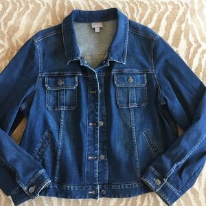 J.Jill Classic Stretch Denim Jean Jacket